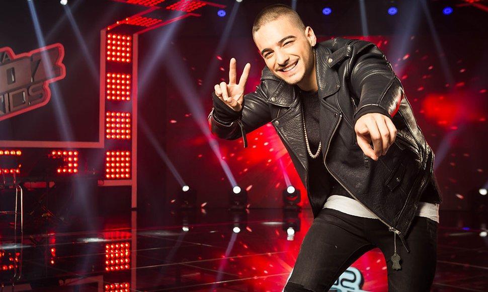 Maluma en programa de televisión internacional. Foto: Web