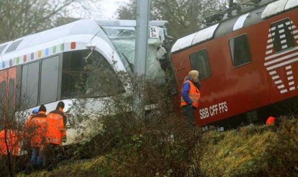 Un accidente de tren dejó 30 heridos este lunes en la estación de Andermatt, en el centro de Suiza, informó la policía cantonal. Foto: redes