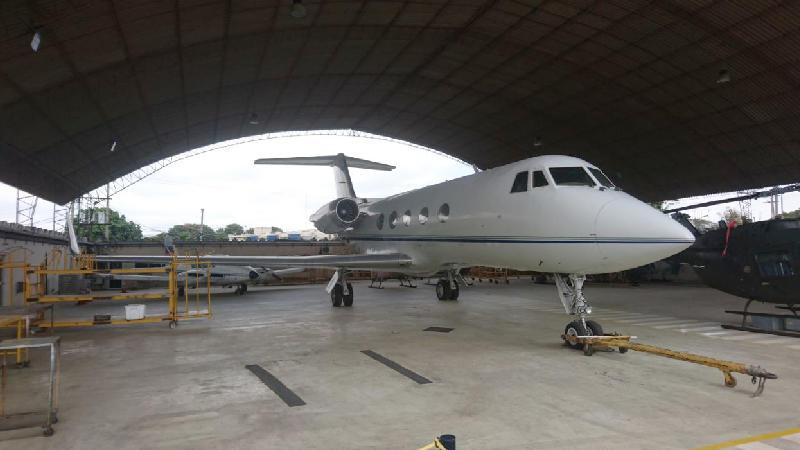 El Gulfstream es un tipo de avión bimotor turbojet fabricado en Estados Unidos, con capcidad para 12 pasajeros. Foto: Ministerio de Defensa Nacional.