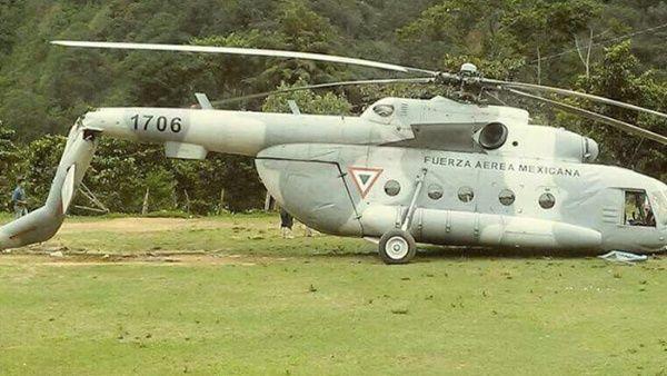 Protección Civil informó sobre la caída del transporte aéreo. Foto: @LUISFELIPE_P