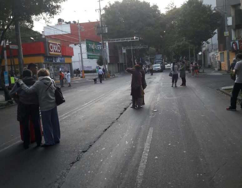 El nuevo sismo se produce cuatro días después del de 7.1 grados que afectó a la capital mexicana. Foto: Tomado de Noticieros Televisa.