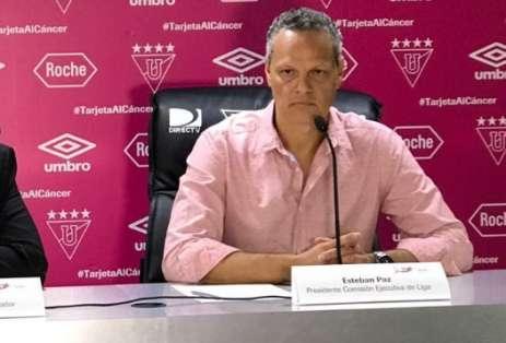 El dirigente de Liga de Quito explicó por qué trajeron otra vez a Fernando Guerrero. Foto: Archivo