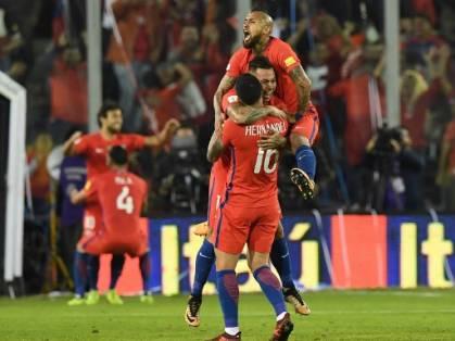 Chile ganó con tantos de Eduardo Vargas y Alexis Sánchez. Foto: AFP