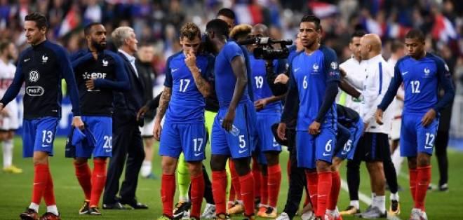 Francia quedó primera del grupo A con 23 puntos +12 de gol diferencia. Foto: AFP