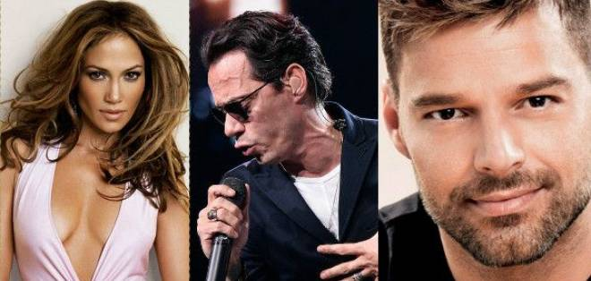 MIAMI, EE.UU.- Jennifer López, Marc Anthony y Ricky Martin recaudarán fondos para proveer alimentos. Foto: Tomado de 24 Cl.