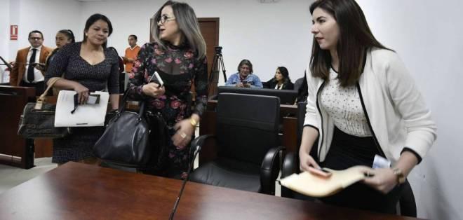 QUITO, Ecuador.- La audiencia de vinculación por lavado de activos en el caso Odebrecht se realizó en el Complejo Judicial Norte. Foto: API
