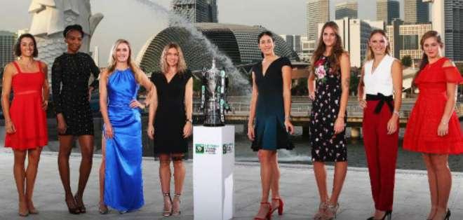Se definieron los dos grupos de las ocho competidoras del Masters WTA de Singapur.