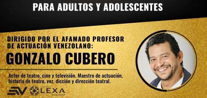 """El reconocido actor venezolano Gonzalo Cubero dictará en Guayaquil el taller vivencial mixto """"Vive y trabaja la actuación""""."""