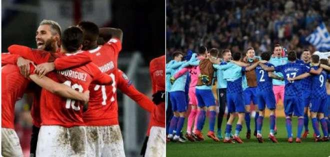 Las selecciones de Suiza y Croacia sellaron su clasificación a la Copa del Mundo de Rusia en 2018.