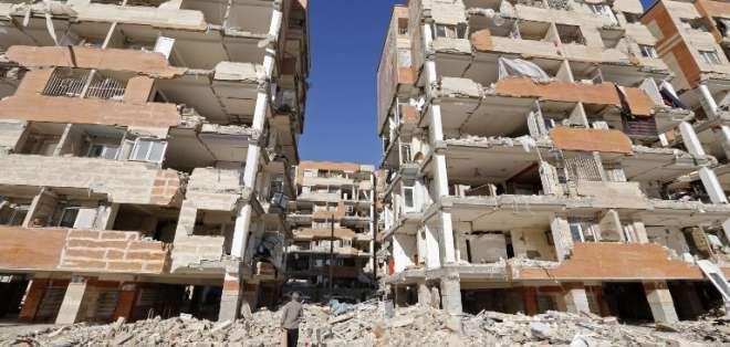 El Estado y la población iraní acuden en socorro de las víctimas del terremoto. Foto: AFP