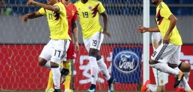 La selección colombiana de fútbol goleó a su similar de China en cotejo amistoso disputado en Chongqing.