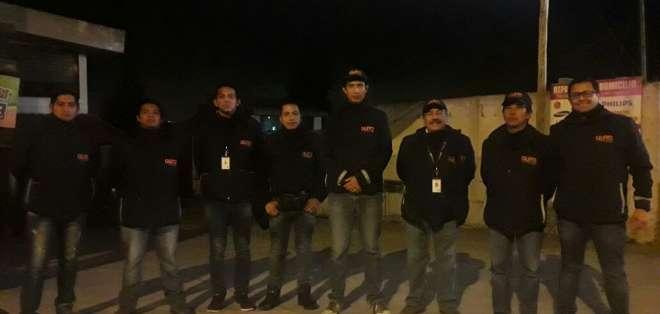 La policía metropolitana de la ciudad, informa precaución a los habitantes que deseen viajar a la capital. Foto: Alexandra  Ortiz