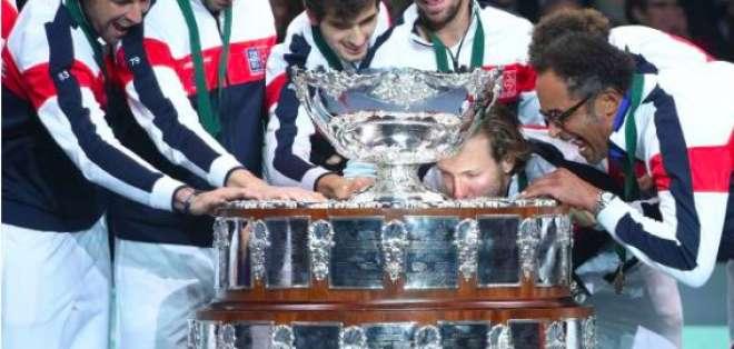 Francia gana su décima Copa Davis al vencer en la final a Bélgica en un global de 3-2.