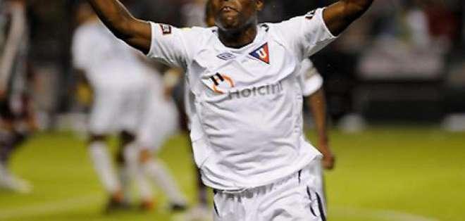 Joffre Guerrón fue campeón de la Libertadores 2008 jugando para Liga de Quito.