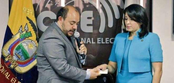 Nubia Villacís asumió la presidencia del Consejo Nacional Electoral. Foto: CNE