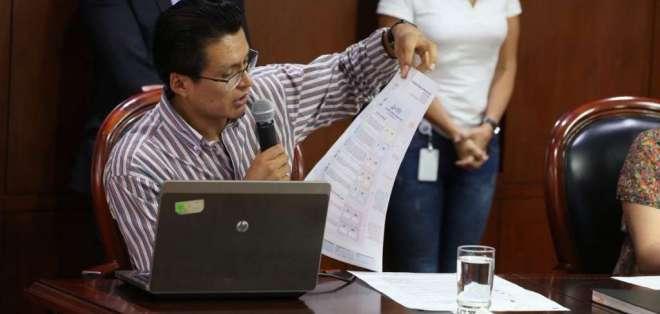 QUITO, Ecuador.- La papeleta será en formato A3, con trama de colores para que los electores puedan diferenciar las 7 preguntas y tendrá los diversos mecanismos de seguridad. Foto: CNE