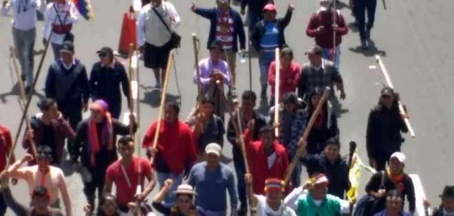 La manifestación pacífica es seguida de cerca por la Policía para evitar incidentes.