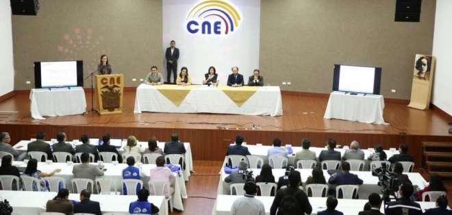 El CNE informó que 13'026.598 ciudadanos están habilitados para sufragar en el proceso. Foto: Twitter CNE.