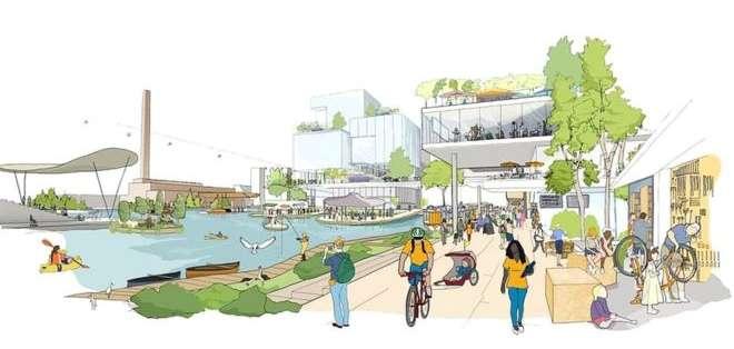 Sidewalk Toronto se construirá en una superficie de poco más de 3 kilómetros cuadrados.