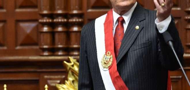 Pedro Pablo Kuczynski, presidente de Perú fue citado por el Congreso de ese país sobre supuestos vínculos en el caso Odebrecht.    Foto:AFP