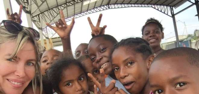 Fundaciones realizarán agasajo a los niños de la isla Trinitaria por motivo de navidad. Foto: Cortesía