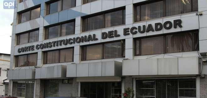 El juez de la Corte Constitucional Manuel Viteri es el encargado de presentar el informe. Foto: Archivo API