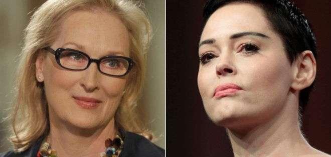 """Streep dijo que """"realmente lamenta"""" que McGowan la vea como una advesaria."""