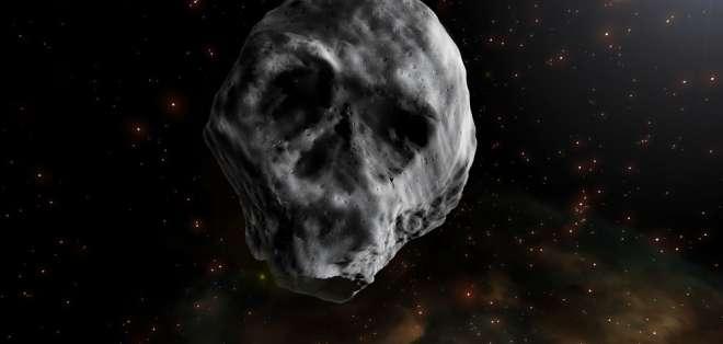 El extraño asteroide visitó nuestro planeta en pleno Halloween de 2015. Foto: Archivo agenciasinc.es