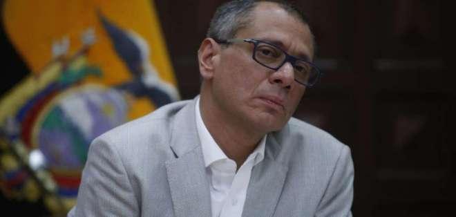 El vicepresidente Jorge Glas solicitó las medidas cautelares el 26 de octubre de 2017. Foto: Ecuavisa