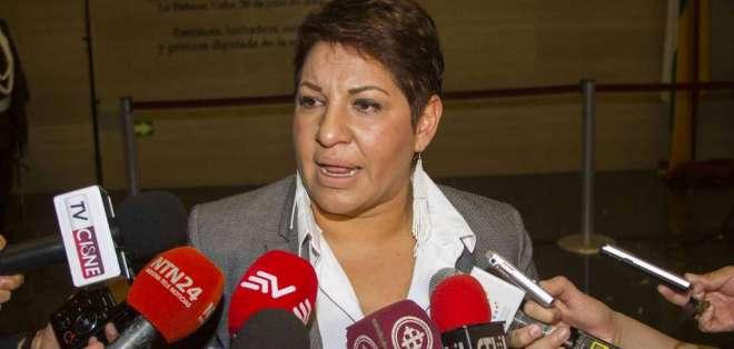 María José Carrión, presidente de la Comisión de Fiscalización. Foto: API