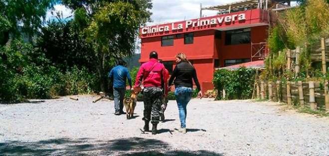 Se ordenó la suspensión de actividades de la casa de salud, ubicada en el sector de Cumbayá, al oriente de Quito. Foto: Fiscalía