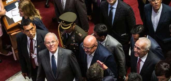 """Pedro Kuczynski, es su discurso prometió nombrar un gobierno de """"reconciliación"""". Foto: Archivo"""