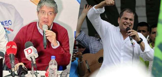 Guillermo Lasso y Rafael Correa continúan su periplo en octavo día de campaña