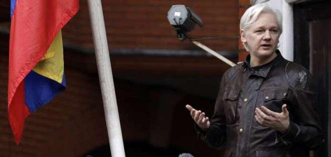 El fundador de WikiLeaks entró en la embajada ecuatoriana en Londres en 2012. Foto: AP