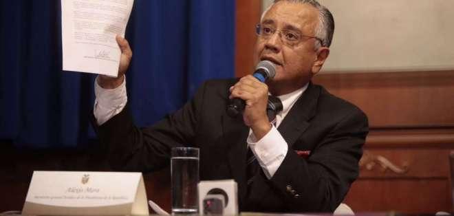 Alexis Mera insistió el viernes en que la notificación es un tema político. Foto: Archivo API