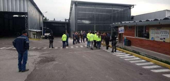 Durante los operativos realizado en Quito, se detuvo a dos personas. Foto: Fiscalía