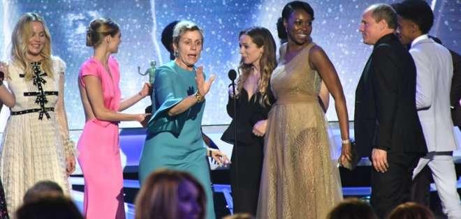 """Mujeres protagonizan premios SAG, con """"Tres anuncios por un crimen"""" como favorita. Foto: AFP"""