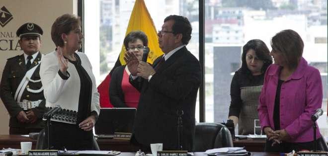 La lojana Paulina Aguirre presidente desde el viernes la CNJ. Foto: API