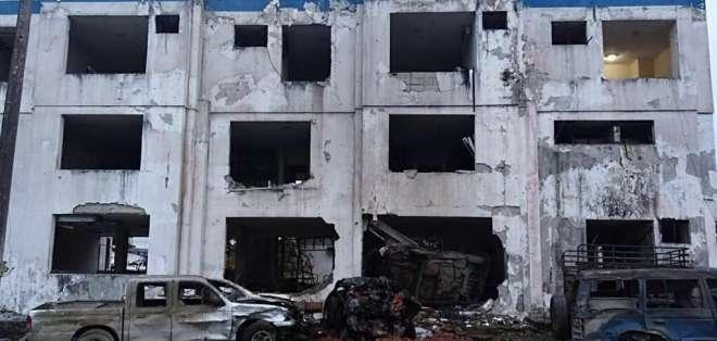 Existen heridos tras explosión, pero l Ministerio del Interior descartó víctimas mortales. Foto: M. del Interior