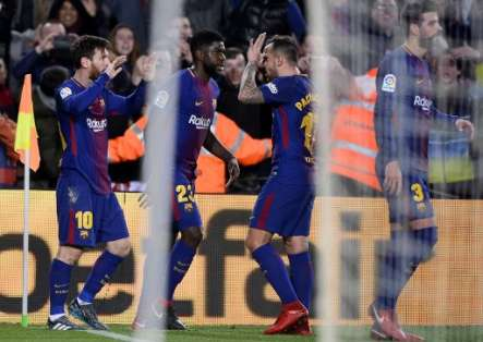 Los catalanes aún le llevan 11 puntos a su perseguidor más cercano, el Atlético Madrid. Foto: AFP