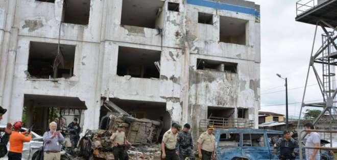 La Fiscalía de San Lorenzo cerró algunas horas tras una amenaza de bomba. Foto: Archivo Twitter @PoliciaEcuador