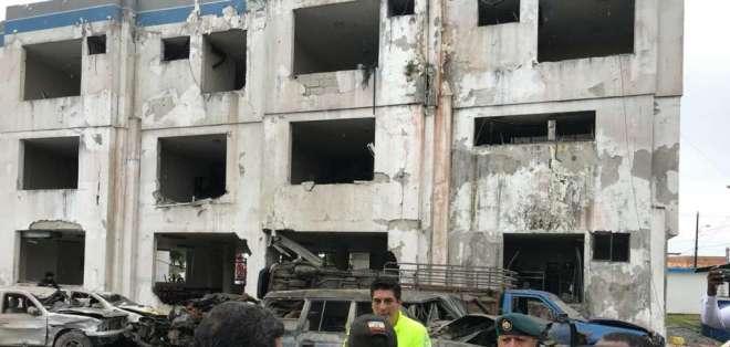 SAN LORENZO, Esmeraldas.- El ataque ha sido vinculado por las autoridades, con bandas de narcotráfico. Foto: Ministerio del Interior