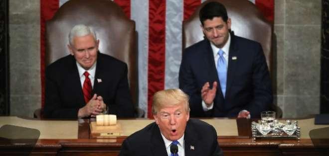 Mandatario dio su discurso sobre el estado de la Unión ante el Congreso. Foto: AFP