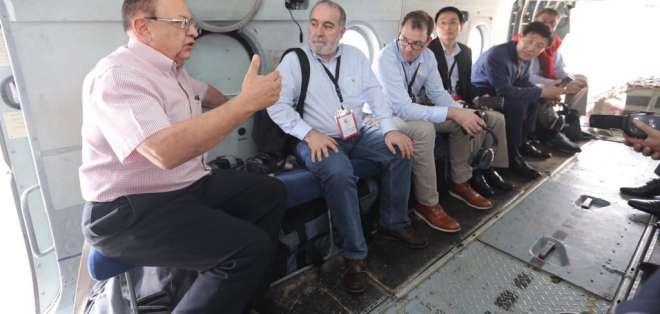Algunos inversores realizaron un vuelo sobre El Aromo, área donde ya se ha realizado la remoción de tierras.