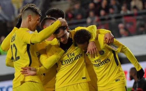 Los parisinos vencieron 3-2 al Rennes en condición de visitante. Foto: AFP