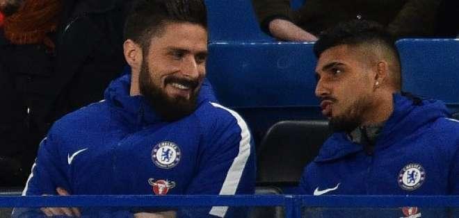 Olivier Giroud llegó al Chelsea, equipo con el que ya estuvo en el partido de este miércoles 31 de enero. Foto: AFP
