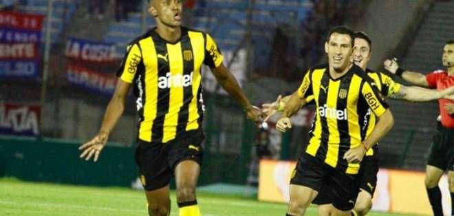 Fidel Martínez marcó su primer gol en el campeonato uruguayo con la camiseta de Peñarol.