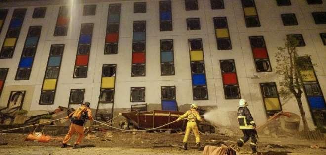 Dos muertos y más de 100 heridos en un terremoto en Taiwán. Foto: AFP