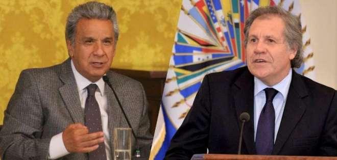 INTERNACIONAL.- Las autoridades resaltaron el proceso democrático que Ecuador ejerció el 4 de febrero. Collage: Ecuavisa