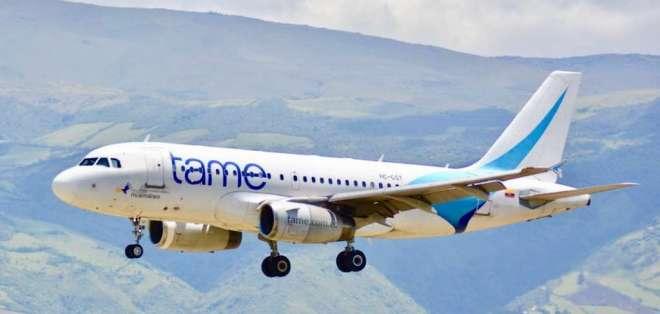 ECUADOR.- La aerolínea informó la suspensión de sus vuelos a Venezuela por pérdidas económicas. Foto: TAME